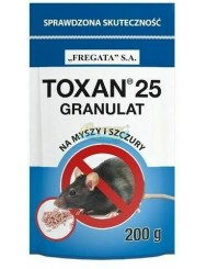 Toxan 25 Granulat na Myszy i Szczury 200 g