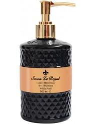 Savon de Royal Black Pearl Mydło w Płynie Wysokiej Jakości z Pompką Czarne 500 ml (72 procent mydła marsylskiego)