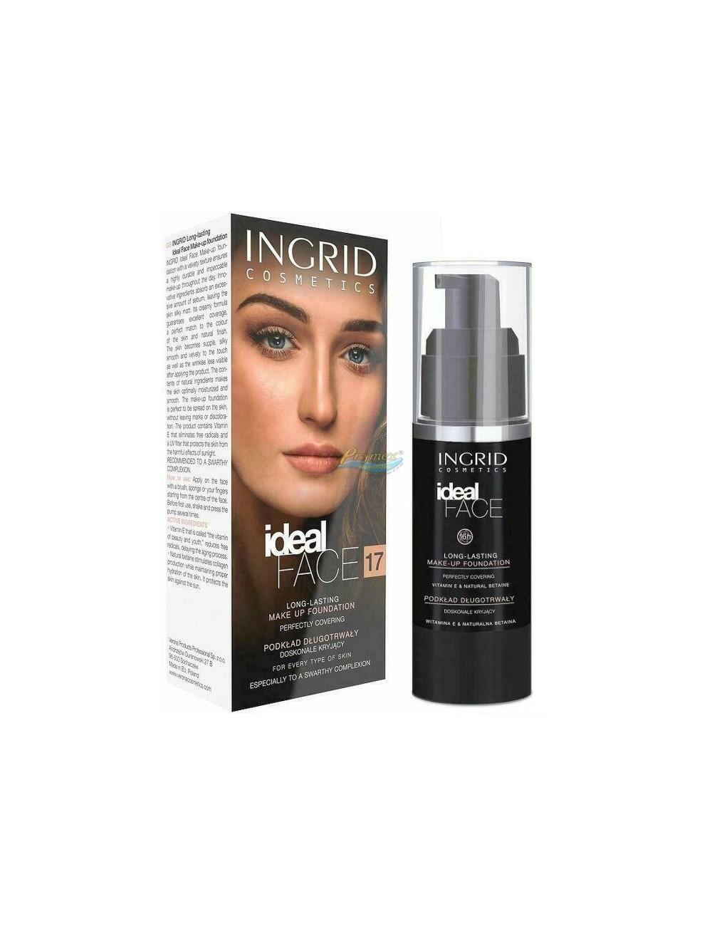 Ingrid Ideal Face 17 Podkład Długotrwały Doskonale Kryjący (ciepły beż) 30 ml