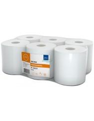 Ellis Professional Ręcznik w Roli Biały 2 Warstwy 100% Celuloza, Wysokość 19 cm (6 rolek)
