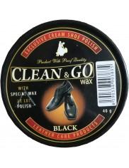 Clean & Go Wax Czarna Pasta do Butów z Błyszczącej Skóry z Woskiem 40 g