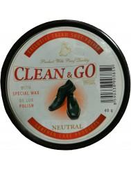 Mattes Clean & Go Wax Bezbarwna Pasta Z Woskiem Do Obuwia Z Błyszczącej Skóry 40g