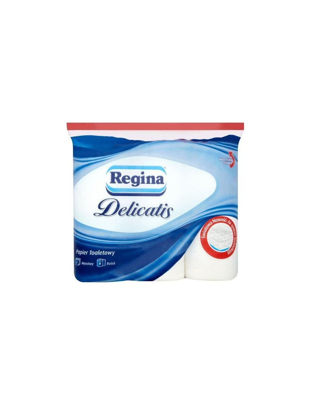 Regina delicatis 9 rolek – papier toaletowy, 4-warstwowy, 100 listków w rolce