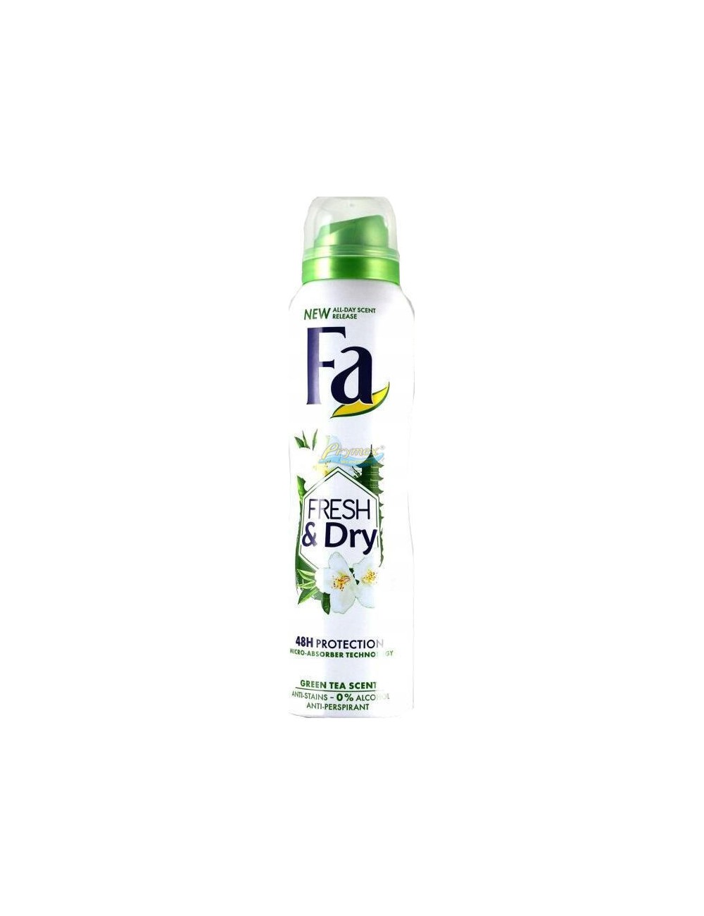 Fa Fresh & Dry Green Tea Damski Antyperspirant w Sprayu 150 ml