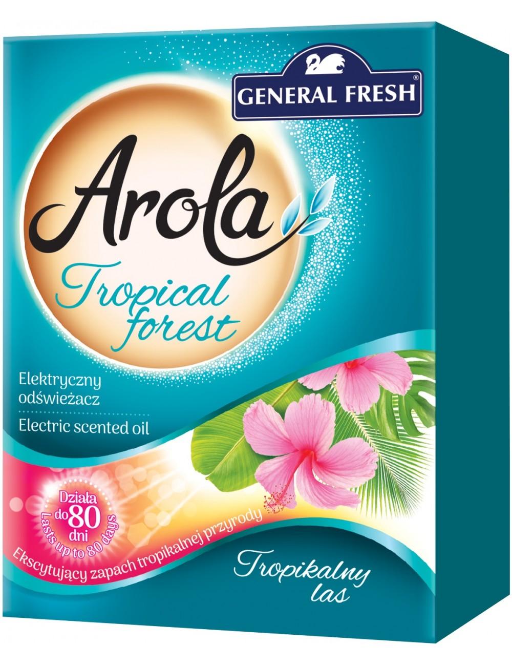 General Fresh Electric Tropical Forest Zapas (80 dni) 25 ml – wkład do elektrycznego odświeżacza powietrza
