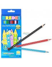 Kredki Ołówkowe Trójkątne Premium Miękki Grafit (12 kolorów) 1 szt