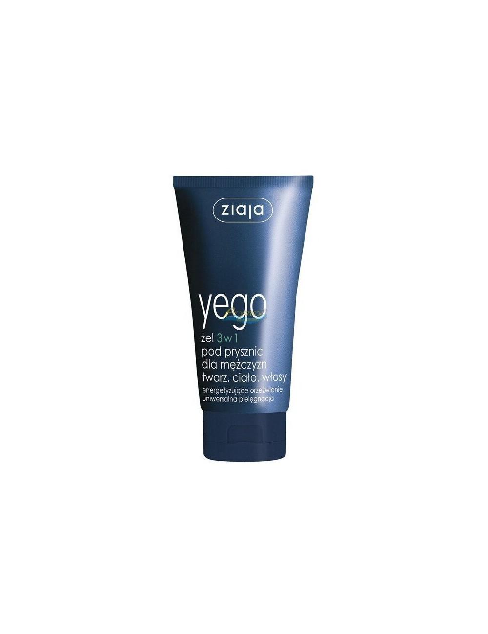 Ziaja Yego Żel pod Prysznic 3-w-1 do Twarzy, Ciała i Włosów dla Mężczyzn 75 ml