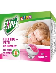 Expel Kids Elektro + Płyn na Komary 40 ml 1 szt