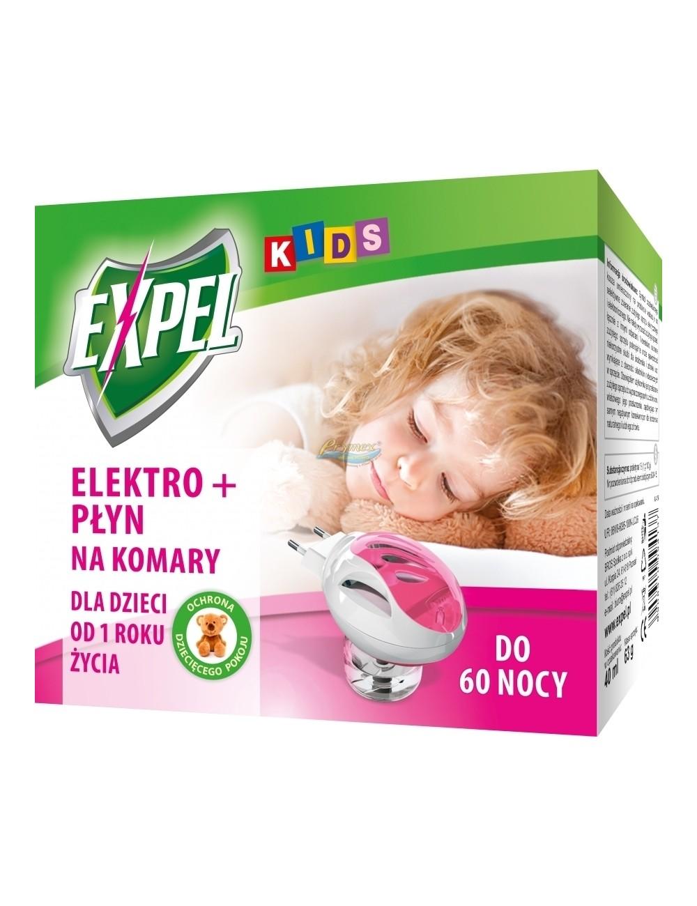 Expel Kids Elektro + Płyn na Komary 40 ml 1 szt