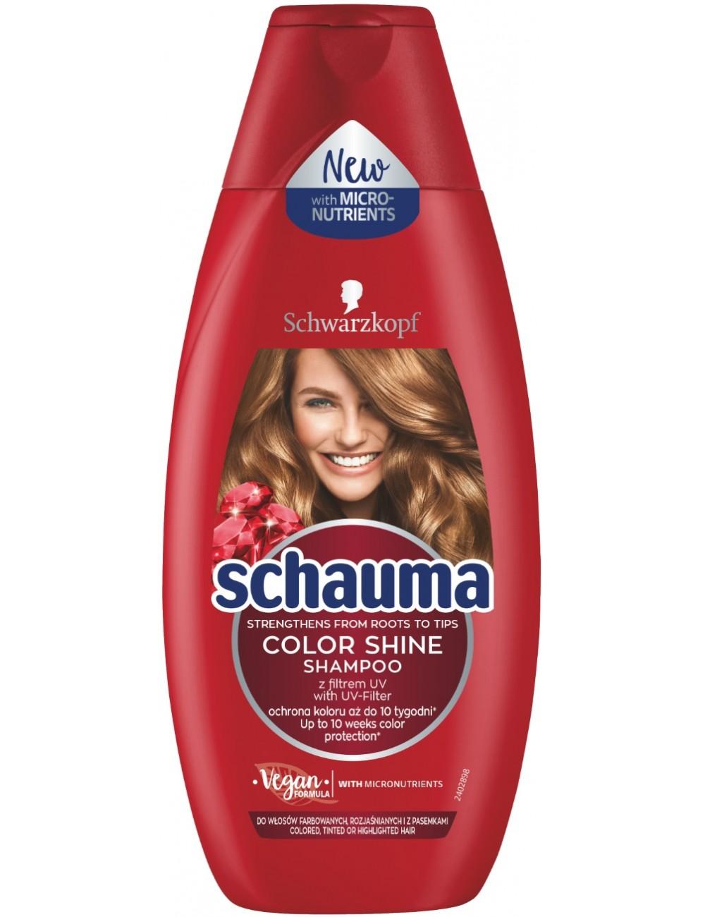 Schauma Lśniący Kolor 250ml – szampon chroniący kolor do włosów farbowanych