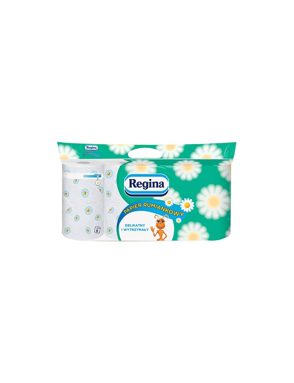 Regina Rumiankowy Papier Toaletowy 8 rolek – 3 warstwy, 100% celuloza