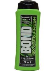 Bond Oxygen Fresh Limonka & Mięta Żel pod Prysznic 3-w-1 dla Mężczyzn 400 ml