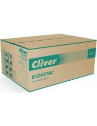 Cliver Ręcznik ZZ Zielony (200 listków) – składany zig-zag , jednowarstwowy, ekonomiczny