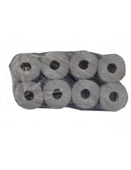 Ekopap Świecie Papier Toaletowy (8 rolek) – 1-warstwowy, ekologiczny papier w szarym kolorze