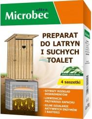 Microbec Ultra Preparat do Latryn i Suchych Toalet w Saszetkach Eukaliptus (4 x 30 g)