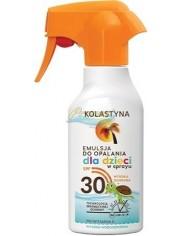 Kolastyna SPF30 Wysoko Wodoodporna Emulsja do Opalania dla Dzieci w Sprayu 200 ml