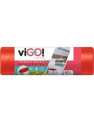 Vigo Czerwone Worki na Śmieci LDPE 60L 10 szt