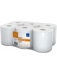 Lamix Ellis Professional R80-2 Biały Ręcznik Celulozowy, 2-warstwowy w Roli 1 szt (wysokość 19 cm)