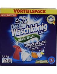 Waschkonig Universal Niemiecki Uniwersalny Proszek do Prania Tkanin 2,4 kg (32 prania)
