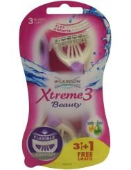 Wilkinson Xtreme3 Beauty Jednorazowe Maszynki do Golenia dla Kobiet (3 ostrza) 4 szt