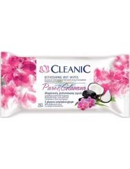 Cleanic Pure & Glamour Nawilżane Chusteczki Odświeżające z Płynem Antybakteryjnym 15 szt