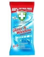 Green Shield Glass & Window Angielskie Chusteczki do Czyszczenia Szyb i Luster 70 szt