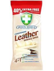 Green Shield Leather Angielskie Chusteczki do Pielęgnacji Skór 70 szt