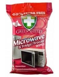 Green Shield Microwave & Fridge Angielskie Chusteczki do Czyszczenia Mikrofalówek i Lodówek 70 szt