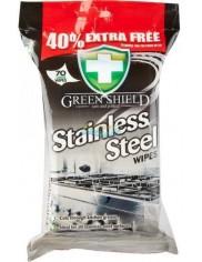 Green Shield Stainless Steel Angielskie Chusteczki do Czyszczenia Stali 70 szt
