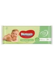 Huggies Natural Care Chusteczki Nawilżane z Aloesem 56 szt