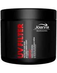 Joanna Professional Maska Wiśnia 500g – z filtrem uv, szczególnie do włosów farbowanych