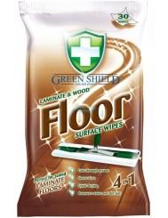 Green Shield Angielskie Chusteczki 4-w-1 do Podłóg Drewnianych i Laminowanych 30 szt