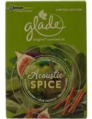 Glade Acoustic Spice Suszona Szałwia, Liście Figowca, Brązowy Cukier Zapas do Elektrycznego Odświeżacza Powietrza 20 ml