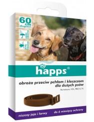 Happs Obroża Przeciw Pchłom i Kleszczom dla Dużych Psów (60 cm) 1 szt