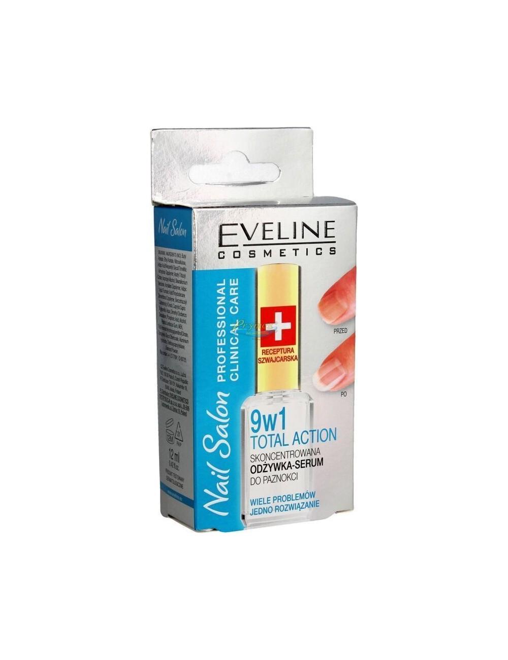 Eveline Nail Salon 9w1 Total Action Odżywka-Serum do Paznokci 12 ml