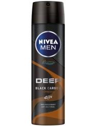 Nivea Men Deep Black Carbon Espreso 48H Antyperspirant w Sprayu dla Mężczyzn 150 ml