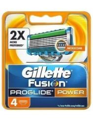 Gilette Fusion Proglide Power Wkład Wymienny do Maszynki do Golenia dla Mężczyzn 4 szt