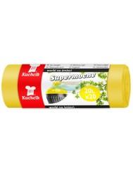 Kuchcik Supermocne Worki na Śmieci Żółte (20 litrów) 20 szt