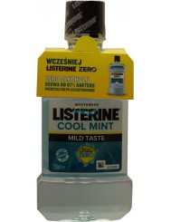 Listerine Cool Mint Mild Tase Płyn do Płukania Jamy Ustnej 250 ml