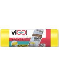 Vigo Mocne Worki na Śmieci LDPE Żółte (60 litrów) 10 szt
