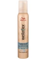 Wellaflex Flexible Extra Strong Hold 4 Bardzo Mocno Utrwalająca Pianka do Włosów 200 ml
