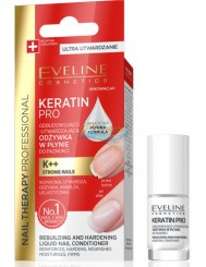 Eveline Nail Therapy Kreatin Pro Odbudowująco-Utwardzająca Odżywka w Płynie do Paznokci 5 ml