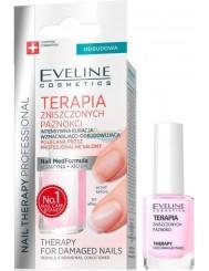 Eveline Nail Therapy Terapia Zniszczonych Paznokci Intensywna Kuracja Wzmacniająco-Odbudowująca w Płynie 12 ml