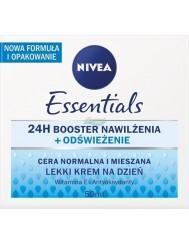Nivea Essentials 24h Booster Nawilżenia Odświeżenie Krem na Dzień z Witaminą E i Antyoksydantami 50 ml