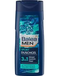 Balea Sport Niemiecki Żel pod Prysznic dla Mężczyzn 3w1 z Wodą Miętową i Mentolem 300 ml