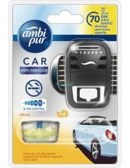 Ambi Pur Car Anti-Tobacco Citrus Samochodowy Odświeżacz Powietrza (urządzenie + wkład 7 ml) 1 szt