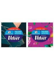 Velvet Care Chusteczki Higieniczne 3-warstwowe (różne wzorty) 1 szt + 1 Gratis