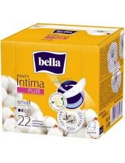 Bella Panty Intima Plus Small Ultracienkie, Oddychające Wkładki Higieniczne Pokryte Naturalną Bawełną 22 szt