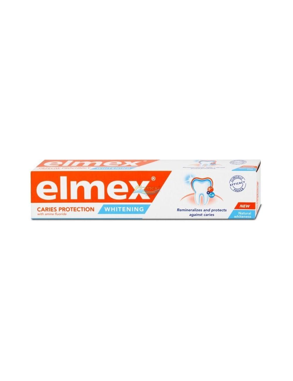 Elmex Whitening Caries Protection Naturalna Biel Pasta do Zębów z Fluorem 75 ml