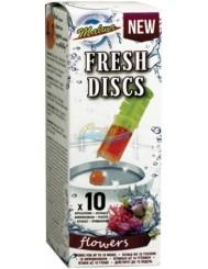 Malwa Fresh Discs Flowers Kwiatowe Żelowe Krążki do WC 10 szt